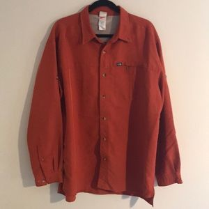 North Face Mens Thick Button Down Shirt Jacket XL